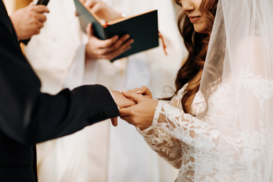 ślub przysięga kościół damian sowada fotograf